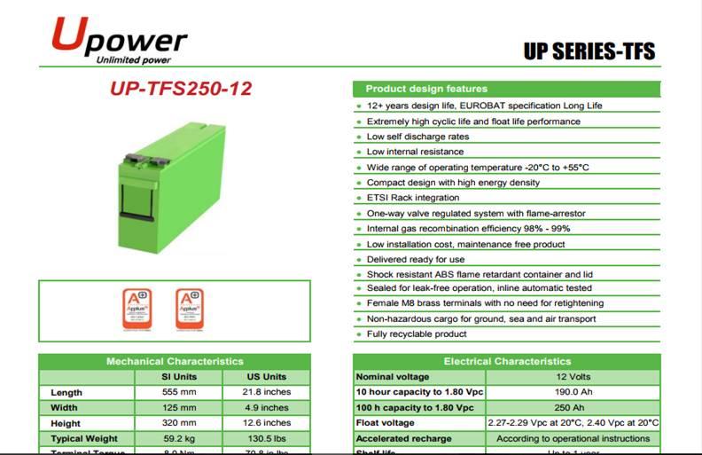 manuel bateria upower