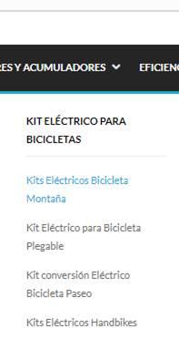 kit conversion bici segun tipo de bicicleta