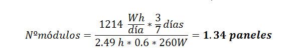 ejemplo calcular placas solares