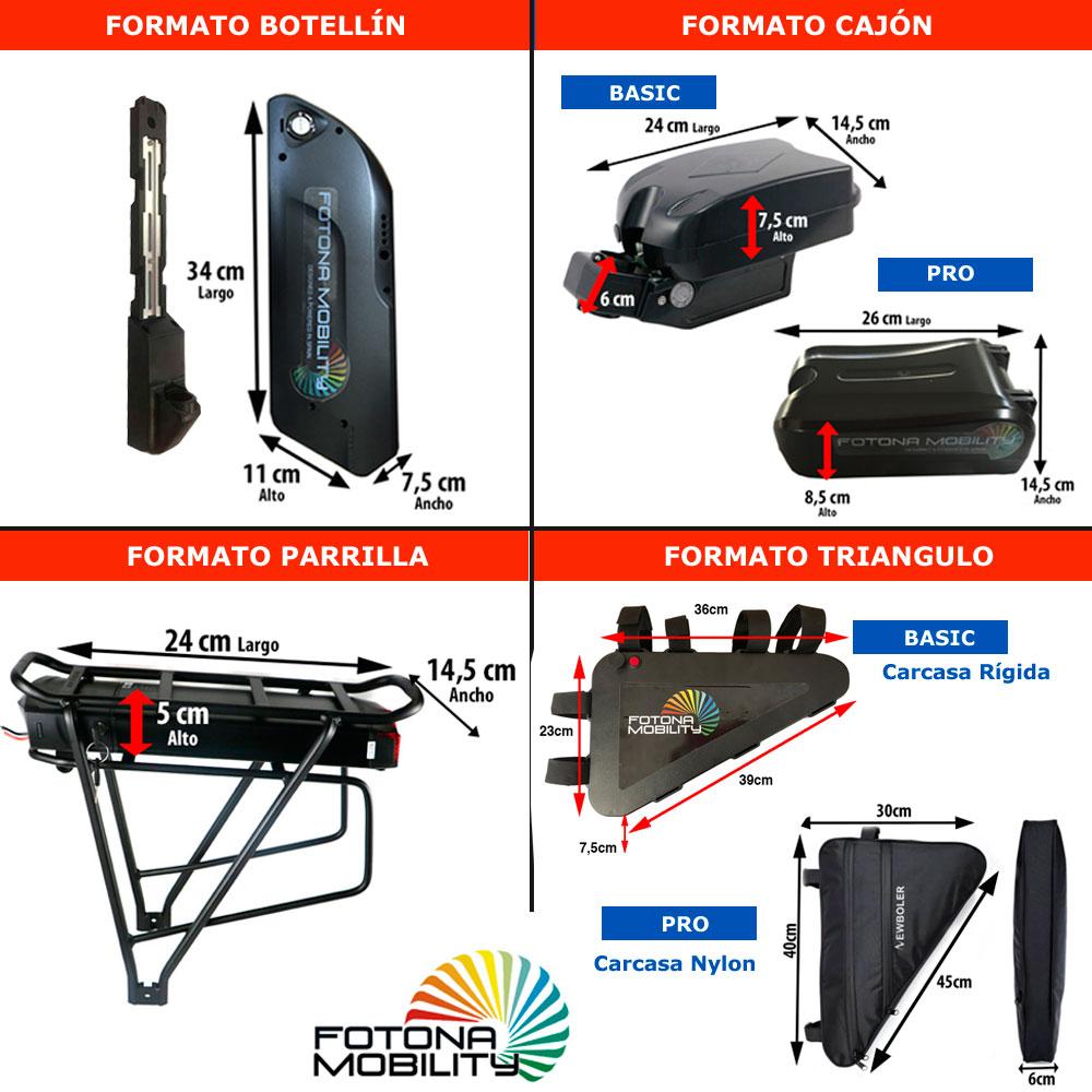 formatos de baterias nuevas para bicicletas con motor