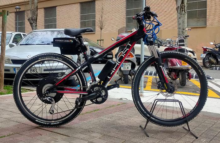 bicicleta montaña ghost  con kit electrico
