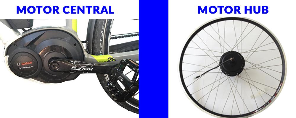 tipos de motores hub y central diferencias