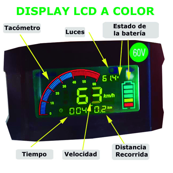 pantalla display lcd a color