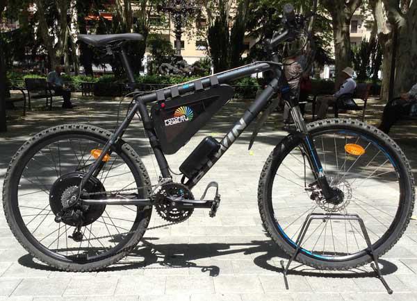 bicicleta de decathlon con kit motor 1000W